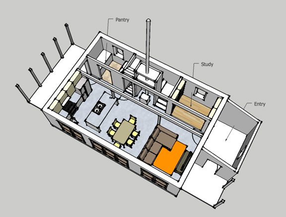 New House Design H 01 on Small Zero Energy House Plans