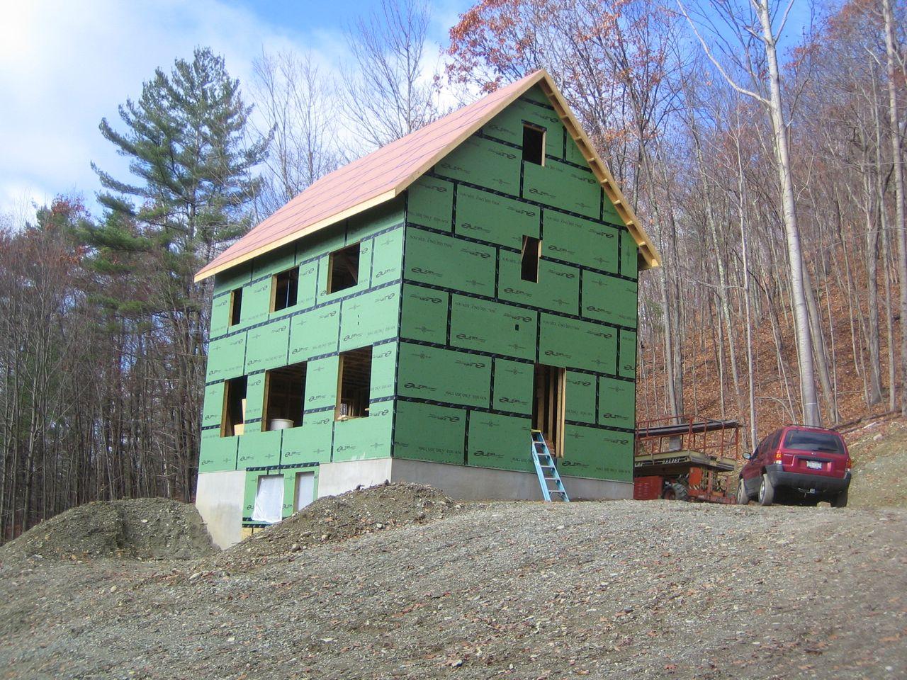 Sheathing 1 Up Hill House
