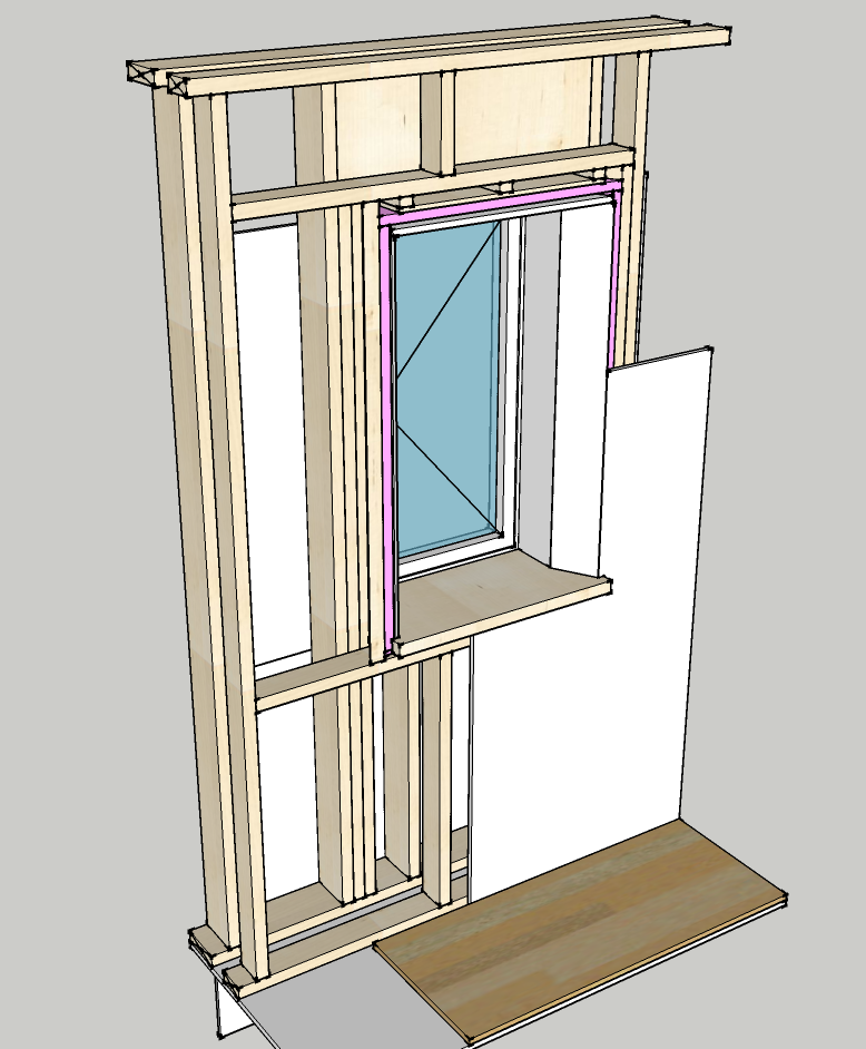 Window framing and insulating detail | Up Hill House
