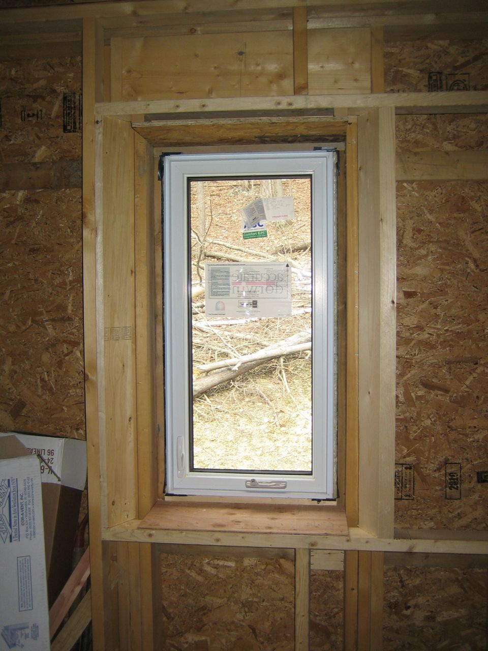 Window Framing And Insulating Detail Up Hill House