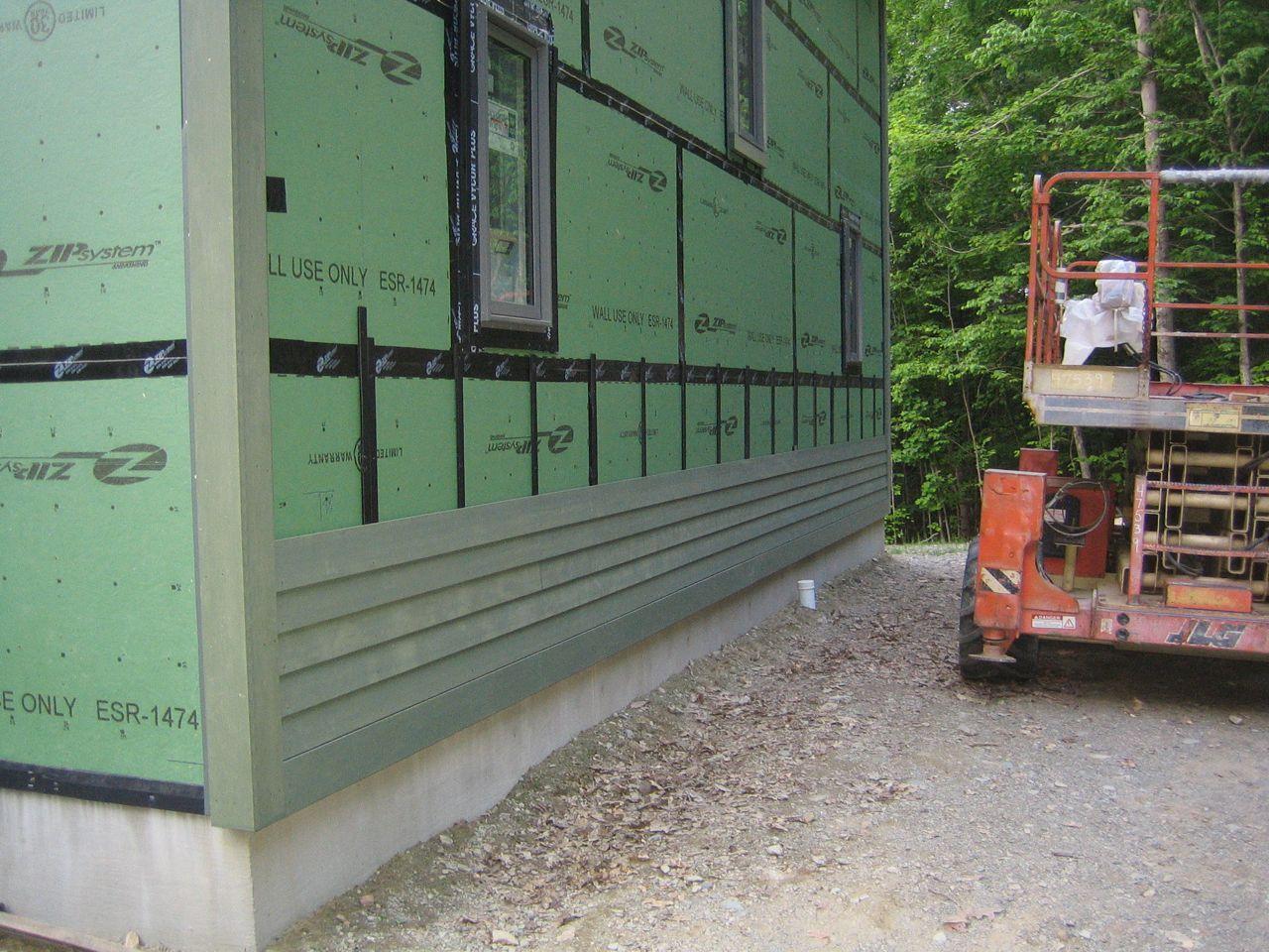 Siding Progress Up Hill House