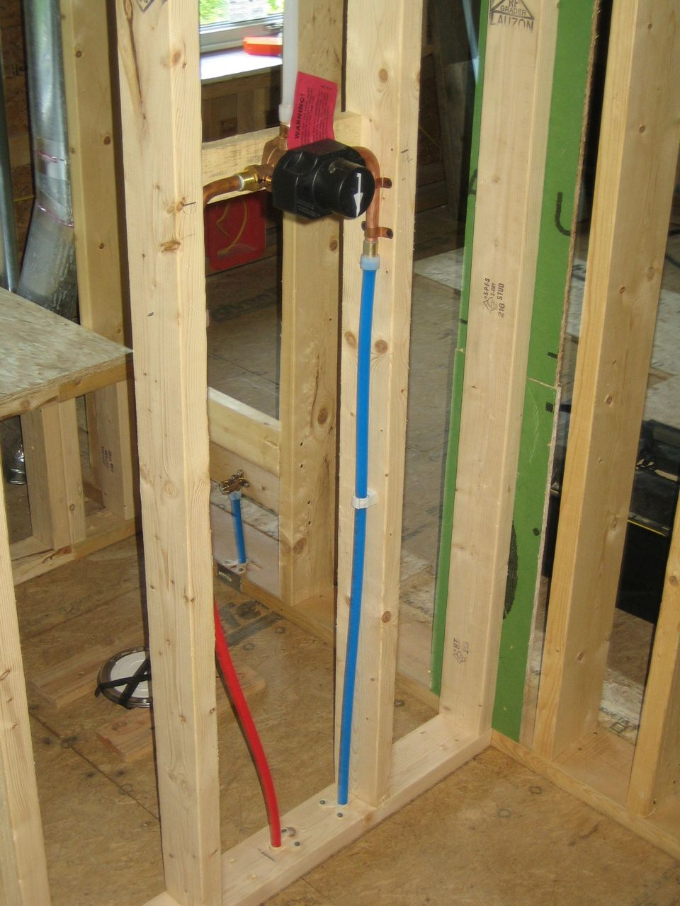 Plumbing 1 3 up hill house for Using pex for drain lines