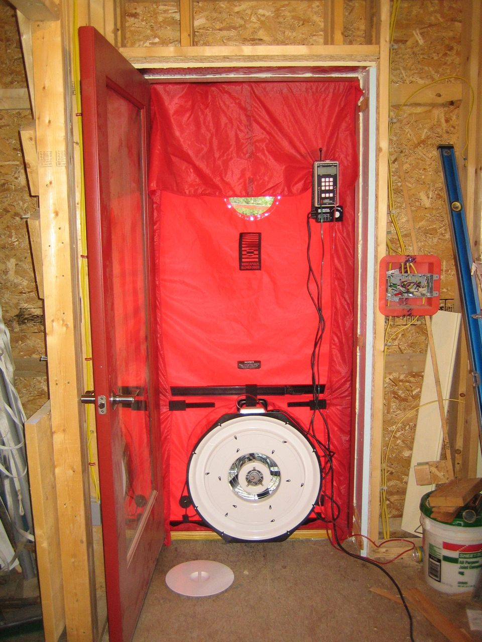 shell blower door test results up hill house. Black Bedroom Furniture Sets. Home Design Ideas