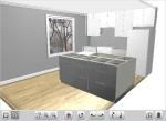 Screenshot of our kitchen in Ikea planner